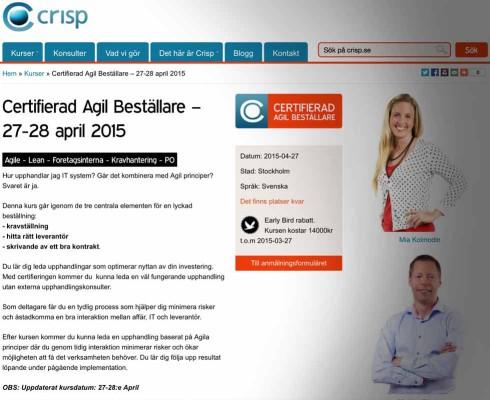 Kursen Certifierad agil beställare