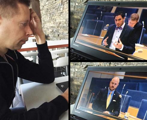 Svar på interpellation angående agila kontrakt i Riksdagen