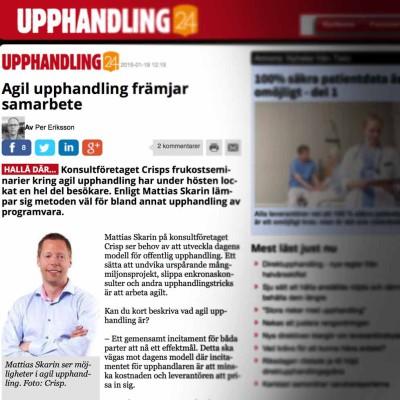 Upphandling24 skriver om Agila kontrakt inom LOU