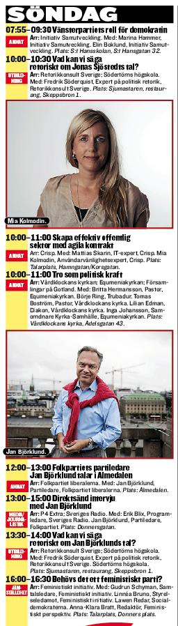 Mia Kolmodin och Mattias Skarin i Almedalen