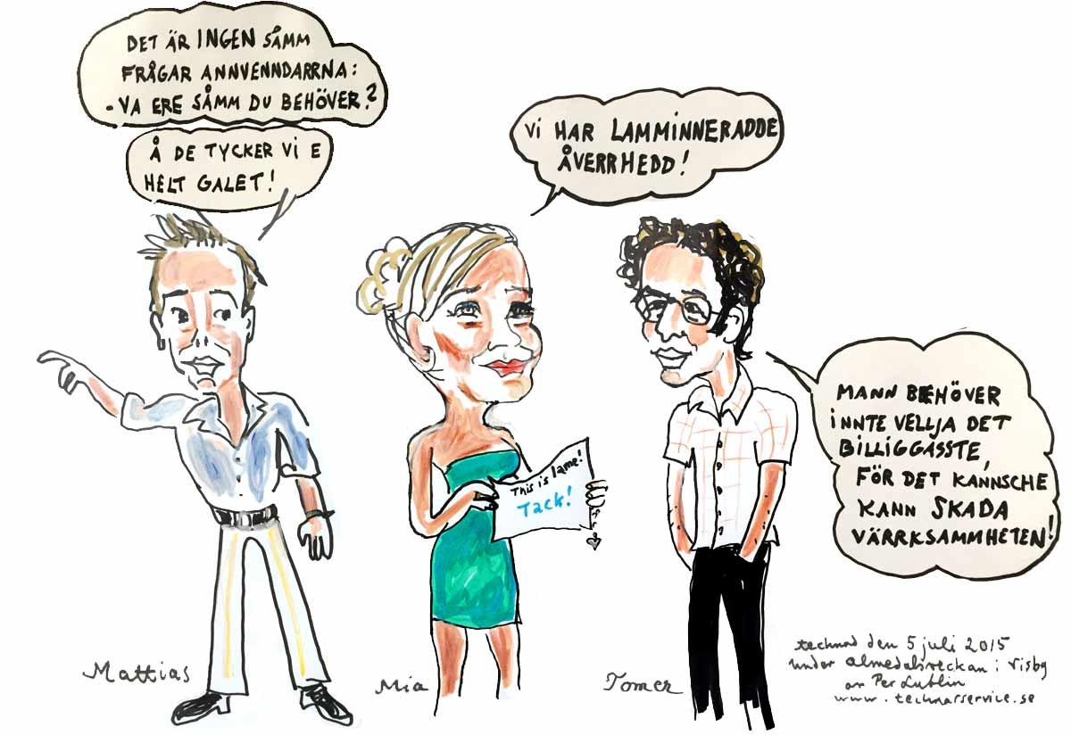 Mattias, Mia och Tomer i Almedalen 2015